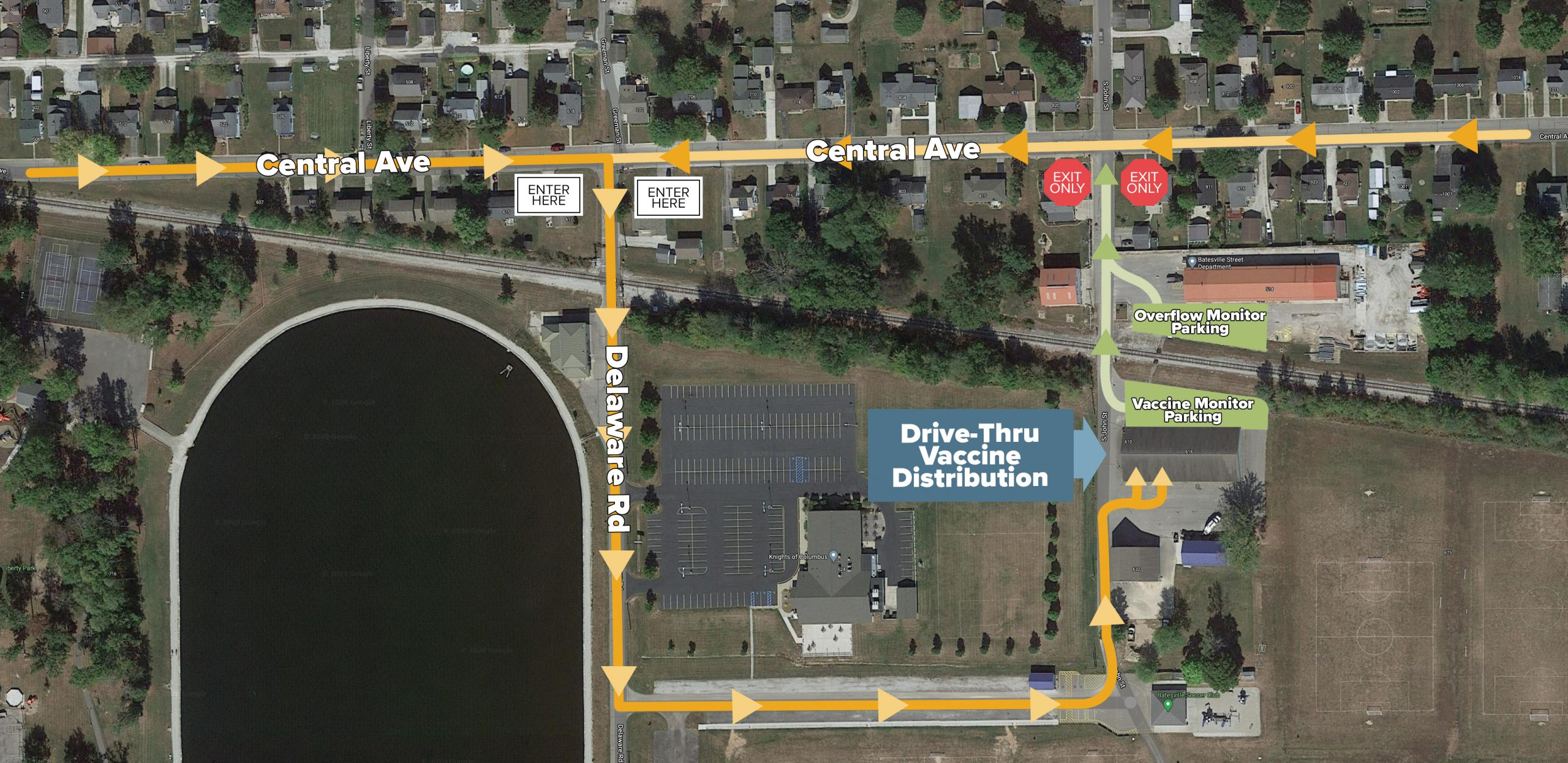 Batesville Vaccine Clinic Map Directions-CUT